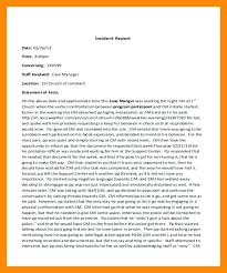 what is an incident report incident report letter sample new sample employee incident report