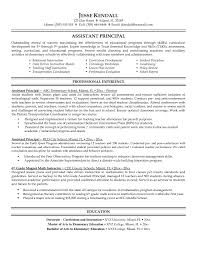 Principal Resume Samples Free Resume Templates