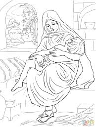 Naaman Sunday School Coloring Pages Page Printable Woman Son God ...