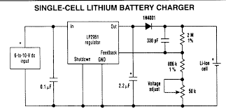 lithium ion battery charger electronic circuits design a dodge charger at Battery Charger Wiring Design