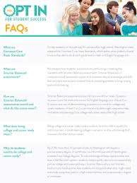 smarter balanced assessments fact sheets opt in for student success faqs