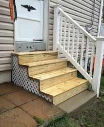 exterior wood stairs exterior wood steps glenside jr carpentry tile