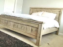 Distressed White Bed Frame White Rustic Bed Frame King Farmhouse Bed ...