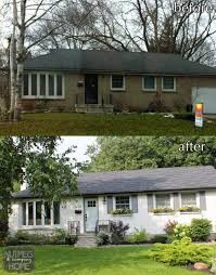 top modern bungalow design style designs painted white brick housepainted