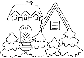 Small Picture Winter House Coloring Merry Christmas Coloring Pages For Kids