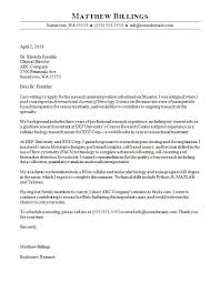 Sample Of Cover Letters For Resumes Best of Research Assistant Cover Letter Sample Monster