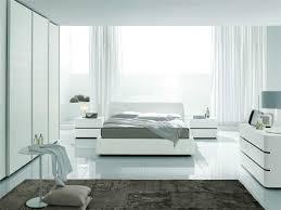 inspiring white bedroom design and decoration using modern white