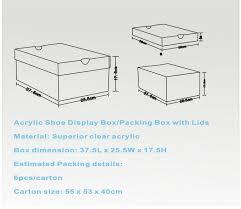 shoe box dimensions. Modren Shoe Custom Acrylic Shoe Box  Throughout Dimensions O