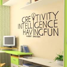 Quotes wall stickers Creativity is Intelligence Having Fun Quotes Albert Einstein Wall 94