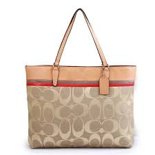 Coach Borough In Signature Large Apricot Totes FBR ...