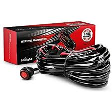 amazon com mictuning heavy duty 300w 2 circuit led light bar order on amazon at Light Bar Wiring Harness Bulk