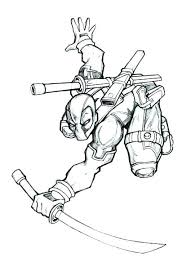 Newest Deadpool Printable Coloring Pages F9969 Peaceful Printable