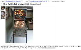 Craigslist Vending Machines Gorgeous What Is My Pinball Machine Worth Question Of Game's Cash Value