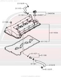 oem evo x engine > valve cover rocker cover diagram 11 110 11 110 diagram mitsubishi evolution x valve cover