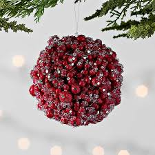 Icy <b>Berry</b> Ball <b>Christmas Ornament</b> | Kirklands