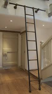 perfect diy rolling library ladder installation optimizing home inside fashionable rolling library ladder gallery