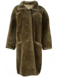 versace pre owned oversized faux fur coat