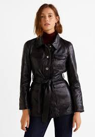 alpha leather jacket black