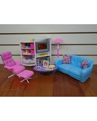 Barbie furniture for dollhouse Ideas Gloria Barbie Size Doll House Furniture Family Room Tv Couch Ottoman Better Homes And Gardens Savings On Gloria Barbie Size Doll House Furniture Family Room Tv