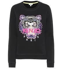 Kenzo Size Chart Tiger Logo Cotton Sweatshirt