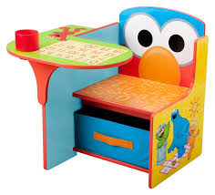 sesame street kids desk chair with storage compartment and cup holder