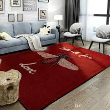 big bee red carpet european and american non slip carpet fashion logo bedroom carpet decorate mat patterned carpets carpet installation from