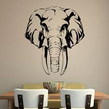 removable free safari jungle elephant head wall sticker font b african