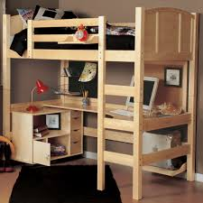 twin loft bed with desk and storage use