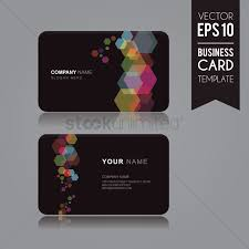 Namecard Format Business Card Template Vector Image 1506906 Stockunlimited