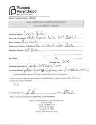 Planned Parenthood Doctors Note Candidate Survey Planned Parenthood Josh Derke For State