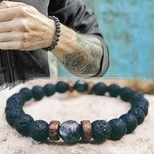 <b>Men's Bracelet Natural Moonstone</b> Bead Tibetan Buddha Bracelet ...