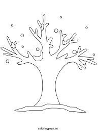 Small Picture Winter Tree Outline Clip Art Coloring Page