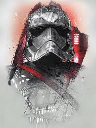 Obraz Na Plátně Star Wars Poslední Z Jediů Captain Phasma Brushstroke