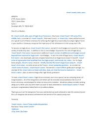 eagle scout letter of re mendation example sample letter with