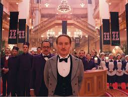spoiler alert you can t really stay at the real grand budapest the military concierge played by owen wilson stands the hotel staff in the