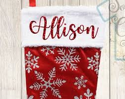 christmas stockings with names. Wonderful With Personalized Christmas Stockings Glitter Names Stocking With  Snowflakes Decor To Stockings With Names H