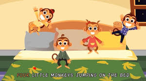 5 little monkeys jumping on the bed nursery rhymes kids s throughout no