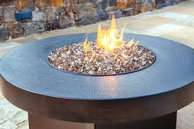 how does a glass fire pit work