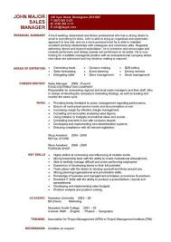 Sales Manager CV example 6 ...