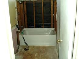 cost to replace bathtub with walk in shower add shower to bathtub remove and install shower