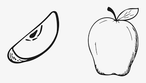 apple fruit black and white. hand drawn cartoon apple fruit, black, cartoon, free png image fruit black and white