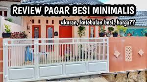 Pagar rumah mempunyai beberapa fungsi sebagai gerbang masuk dan pembatas area rumah. Alhamdulillah Akhirnya Punya Pagar Besi Review Pagar Besi Minimalis Youtube