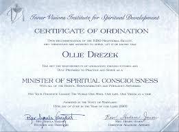 Ordination Certificate Unique Blank Ordination Certificate Universal