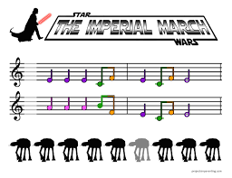 Free printable sheet music for star flight for easy/level 4 piano solo. The Imperial March Beginner Piano Sheet Music Projects In Parenting