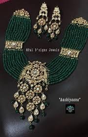 Gold Jadtar Set Design Elegant And Heavy Necklace Set For Wedding Celebrations