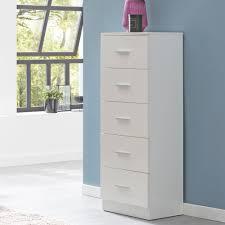 Wohnling Sideboard Wl5859 Weiß Hochglanz 41x108x30cm Anrichte Schubladenkommode