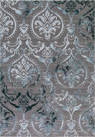 concord global trading thema 2966 large damask teal gray area rug carpetmart com