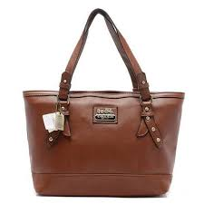 Coach City Saffiano Large Brown Totes AOB Give You The Best feeling!  Fashion Designers