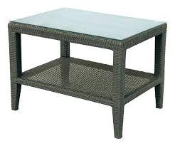 wicker patio side table wicker patio coffee table outdoor wicker side table with umbrella hole wicker patio coffee table