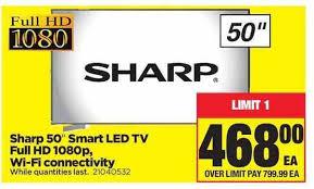 sharp 50 smart tv. real canadian superstore: sharp 50\ 50 smart tv